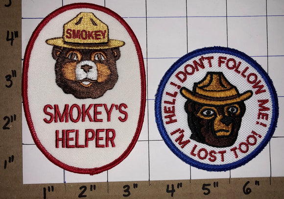 2 SMOKEY THE BEAR FIRE FIGHTING FOREST RESCUE RANGER CREST PATCH CREST LOT
