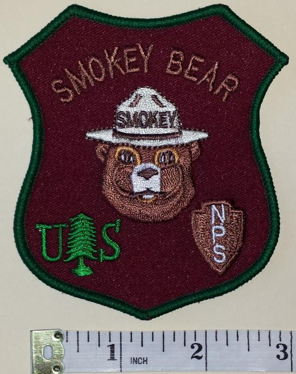 1 VINTAGE SMOKEY THE BEAR FIRE FIGHTING FOREST RESCUE RANGER CREST PATCH