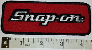 1 SNAP-ON SNAP ON AUTOMOTIVE RACING POWER TOOLS NASCAR SPONSOR RED CREST PATCH