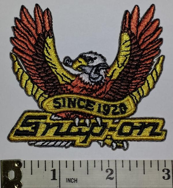 1 SNAP-ON SNAP ON SINCE 1920 RACING POWER TOOLS NASCAR SPONSOR EAGLE CREST PATCH