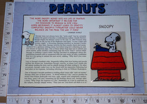 SNOOPY & HIS TYPEWRITER CHARLIE BROWN LUCY PEANUTS WILLABEE & WARD PATCH
