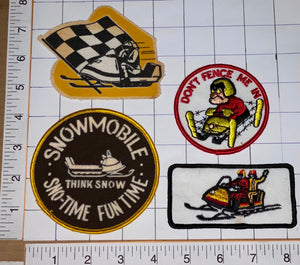 4 VINTAGE SNO-TIME FUN TIME SKI-DOO SNOWMOBILE SKIDOO SKI DOO CREST PATCH LOT