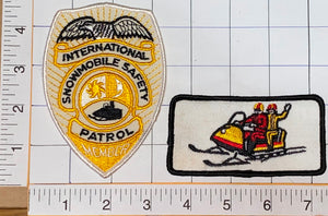 2 VINTAGE INTERNATIONAL SNOWMOBILE SAFETY PATROL SKI DOO SNOWMOBILING PATCH LOT