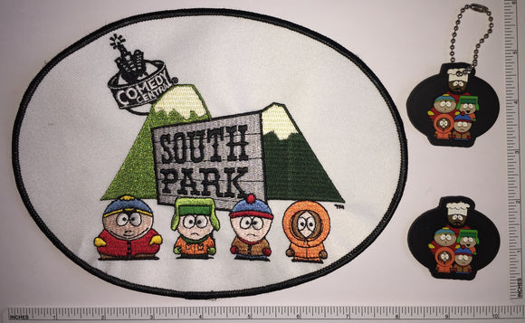 SOUTH PARK COMEDY CENTRAL ANIMATED SITCOM PATCH LOT KENNY KYLE CARTMAN STAN