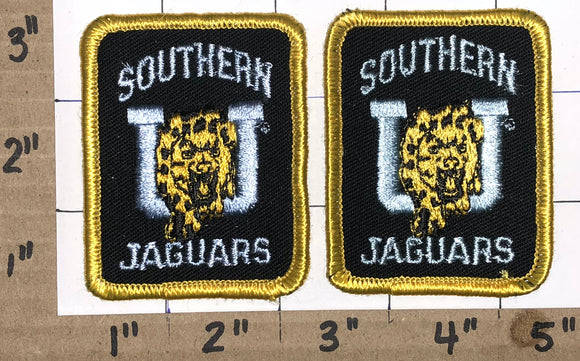 2 RARE SOUTHERN JAGUARS NCAA  COLLEGE UNIVERSITY PATCH LOT
