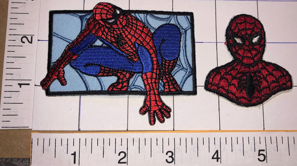 2 VINTAGE SPIDER MAN SPIDER-MAN MARVEL COMICS PATCH LOT