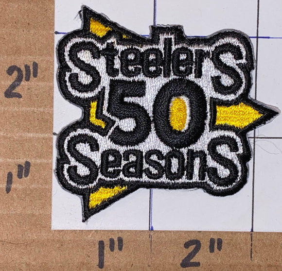 PITTSBURGH STEELERS 50TH ANNIVERSARY NFL FOOTBALL EMBLEM CREST PATCH