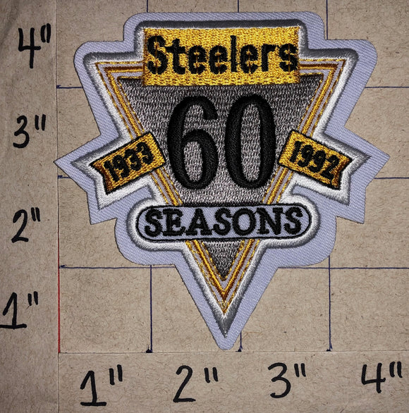 PITTSBURGH STEELERS 60TH ANNIVERSARY NFL FOOTBALL EMBLEM CREST PATCH