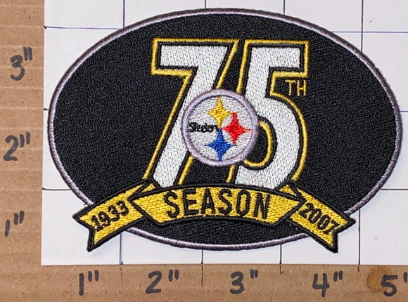 PITTSBURGH STEELERS 75TH ANNIVERSARY NFL FOOTBALL EMBLEM CREST PATCH