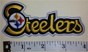 "1 PITTSBURGH STEELERS 4"" SCRIPT NFL FOOTBALL PATCH"