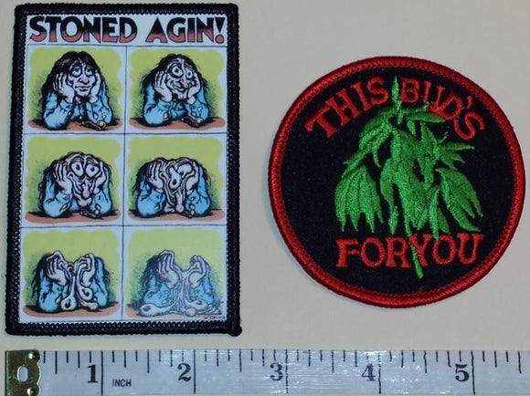BUDWEISER BEER BREWERY STONED AGIN THIS BUD'S FOR YOU CREST EMBLEM PATCH LOT