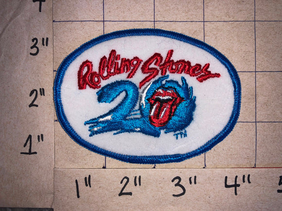 THE ROLLING STONES 20TH ANNIVERSARY CONCERT MUSIC PATCH JAGGER RICHARDS