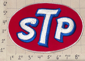 1 VINTAGE HUGE STP GAS & MOTOR OIL FUEL CLEANING SYSTEM CREST EMBLEM PATCH