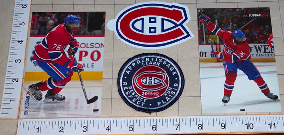 P.K. SUBBAN MONTREAL CANADIENS NHL HOCKEY 2009 & 2011 POSTCARD DECAL PATCH LOT