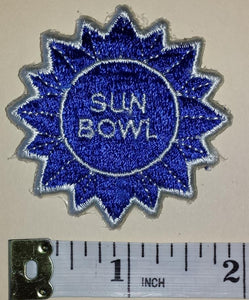1 VINTAGE SUN BOWL EL PASO TEXAS NCAA FOOTBALL BOWL CREST EMBLEM PATCH