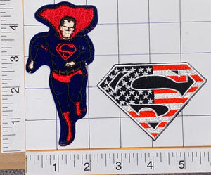 RARE VINTAGE DC COMICS USA AMERICAN SUPERMAN SUPER MAN SUPER HERO PATCH LOT