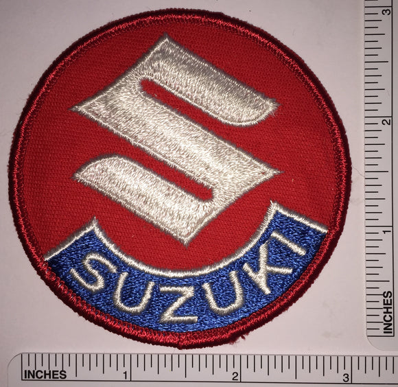 1 VINTAGE SUZUKI MOTORCROSS MOTORCYCLE OFF ROAD CREST EMBLEM PATCH