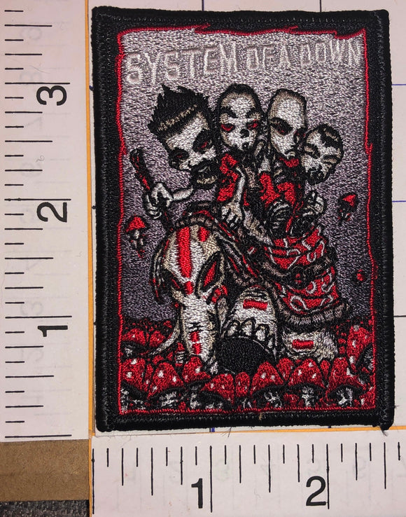 1 SYSTEM OF A DOWN AMERICAN HEAVY METAL CALIFORNIA ALBUM MUSIC CREST PATCH