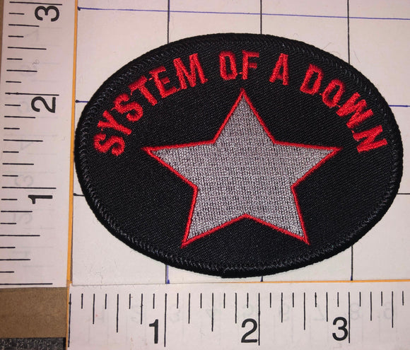 SYSTEM OF A DOWN AMERICAN HEAVY METAL CALIFORNIA ALBUM STAR MUSIC CREST PATCH