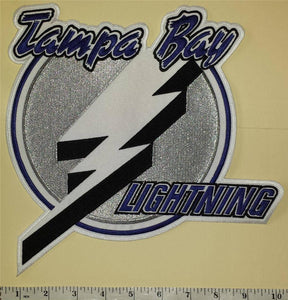 TAMPA BAY LIGHTNING NHL HOCKEY 10 1/2 INCH FRONT JERSEY EMBLEM CREST PATCH