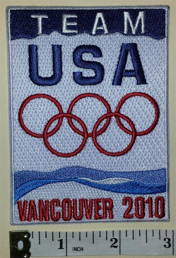 1 UNITED STATES OLYMPIC TEAM VANCOUVER 2010 OLYMPICS EMBLEM CREST PATCH