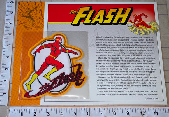 1 THE FLASH DC COMICS SUPERHERO WILLABEE & WARD JUSTICE LEAGUE EMBLEM PATCH