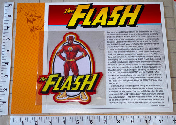 THE FLASH DC COMICS SUPERHERO WILLABEE & WARD JUSTICE LEAGUE EMBLEM PATCH