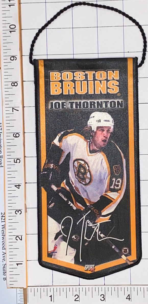 BOSTON BRUINS JOE THORNTON OFFICIALLY LICENSED NHL HOCKEY 8 1/2