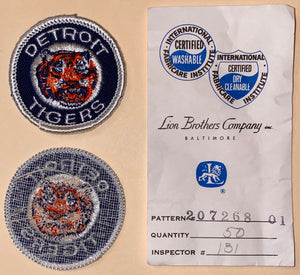"1 VINTAGE DETROIT TIGERS MLB BASEBALL 2"" EMBROIDERED CREST PATCH"