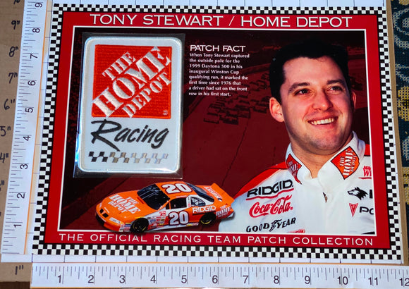 TONY STEWART HOME DEPOT WILLABEE & WARD NASCAR RACING SPEC SHEET EMBLEM PATCH