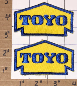 2 TOYO TIRES WHEELS CREST EMBLEM PATCH LOT