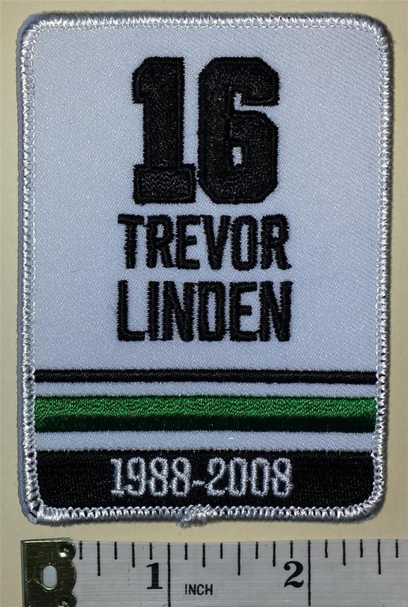 1 VANCOUVER CANUCKS TREVOR LINDEN NHL HOCKEY RETIREMENT 1988-2008 EMBLEM PATCH