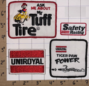 4 UNIROYAL TIGER PAW TUFF IN TIRES RACING CREST PATCH LOT
