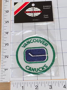 1 RARE VINTAGE 1970'S VANCOUVER CANUCKS NHL HOCKEY EMBLEM CREST PATCH MIP