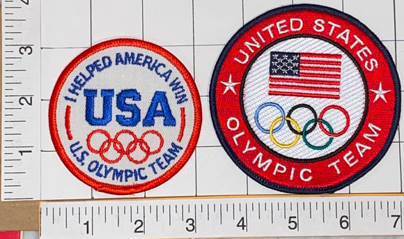 USA OLYMPICS TEAM USA I HELPED US OLYMPIC TEAM WIN USA EMBLEM PATCH LOT