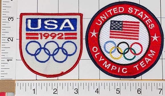 1992 TEAM USA BARCELONA SUMMER OLYMPICS XXV OLYMPIAD SPAIN EMBLEM PATCH LOT
