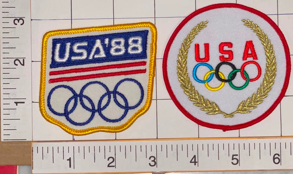 1988 TEAM USA SEOUL SUMMER OLYMPICS XXIV SOUTH KOREA EMBLEM CREST PATCH LOT