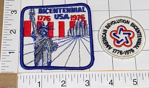 BICENTENNIAL 1776-1976 NY STATUE OF LIBERTY AMERICAN REVOLUTION CREST PATCH LOT
