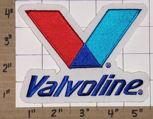 1 RARE VALVOLINE OIL LUBRICANT MOTOR OIL SYNTHETIC CREST EMBLEM PATCH