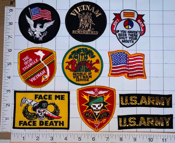 10 VIETNAM REPUBLIC US ARMY POW SOLDIER VET IRON TRIANGLE PATCH LOT