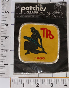 VIRGO HOROSCOPE ASTROLOGY ZODIAC CREST EMBLEM PATCH MIP