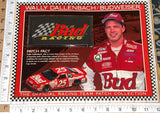 BUD RACING WALLY DALLENBACH BUDWEISER WILLABEE & WARD SPEC SHEET EMBLEM PATCH