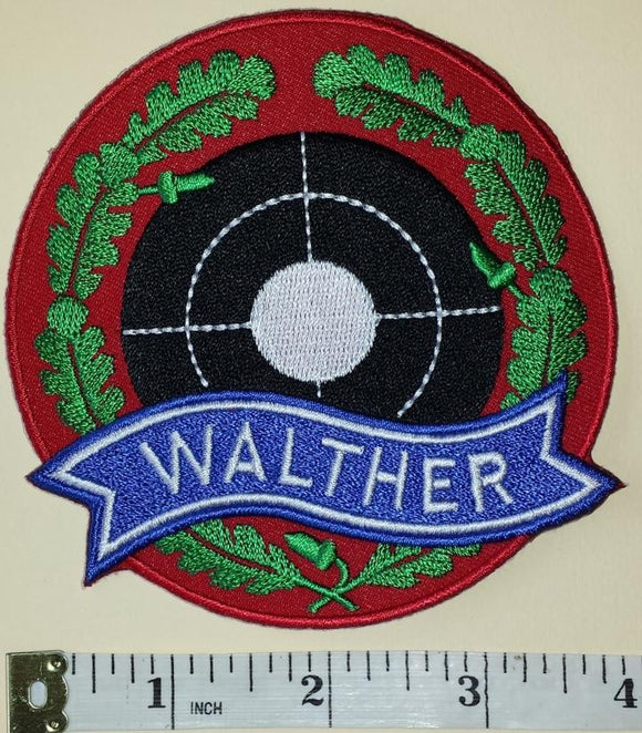 1 WALTHER GUNS HUNTING & SPORTING FIREGUNS AIRGUNS CREST EMBLEM PATCH LOT