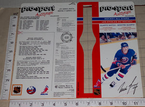 1986 MICHAEL BOSSY NEW YORK ISLANDERS OFFICIAL PRO-SPORT AUTOGRAPH NHL HOCKEY