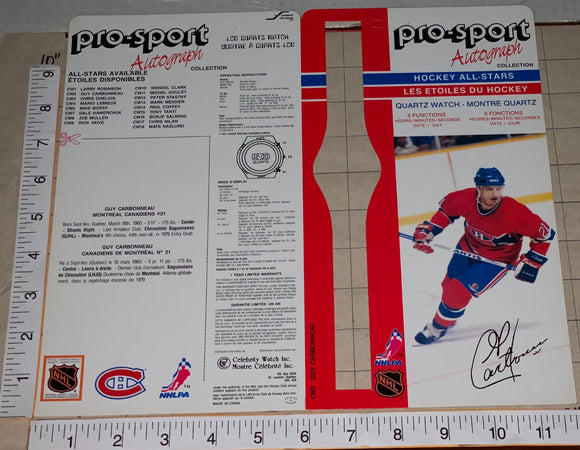 1986 GUY CARBONNEAU MONTREAL CANADIENS OFFICIAL PRO-SPORT AUTOGRAPH NHL HOCKEY