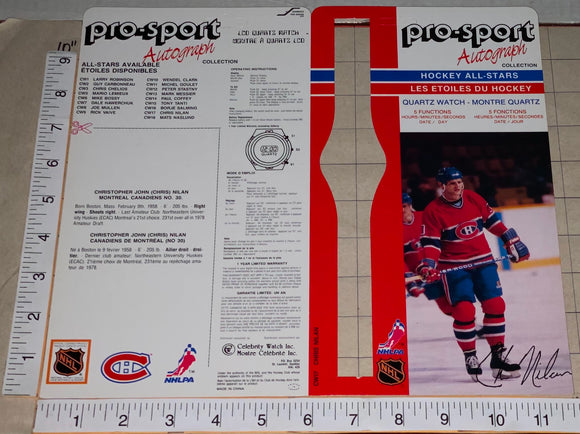 1986 CHRIS NILAN MONTREAL CANADIENS OFFICIAL PRO-SPORT AUTOGRAPH NHL HOCKEY