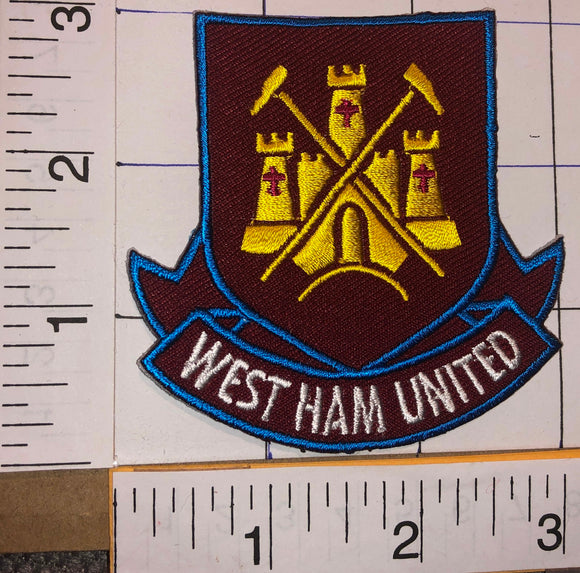 WEST HAM UNITED F.C. ENGLISH FOOTBALL CLUB PREMIER LEAGUE LONDON CREST PATCH
