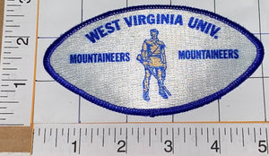 WEST VIRGINIA UNIVERSITY MOUNTAINEERS NCAA FOOTBALL BASKETBALL EMBLEM PATCH