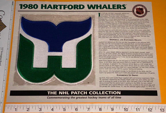 1 OFFICIAL 1980 HARTFORD WHALERS NHL HOCKEY WILLABEE & WARD PATCH MIP