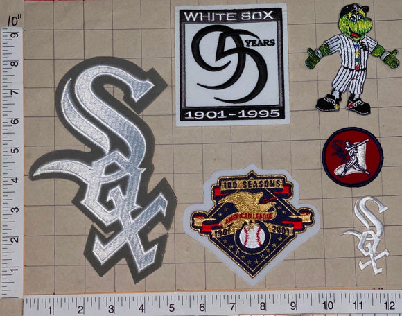 6 CHICAGO WHITE SOX 95 YEARS ANNIVERSARY MLB BASEBALL CREST PATCH LOT
